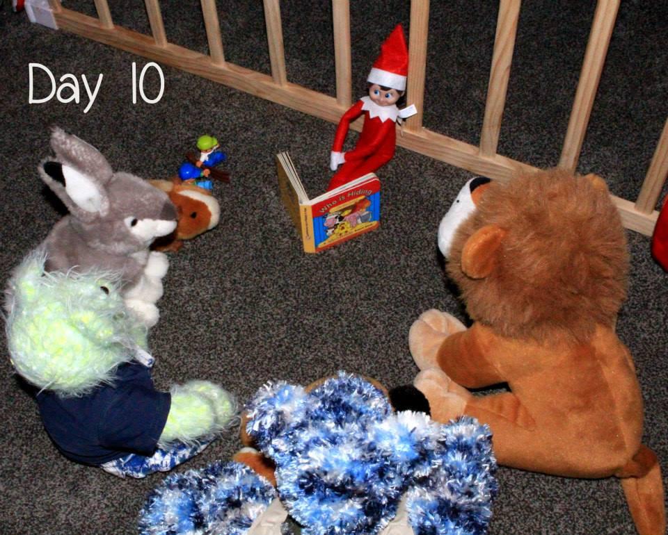 Elf on the Shelf Day 10